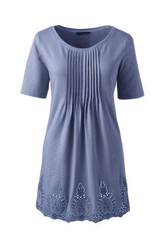Women's Regular Embroidered Slub Jersey Tunic