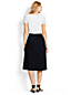Women's Regular Stretch Poplin Midi Skirt