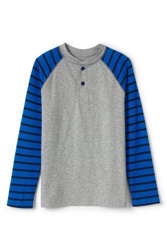 Little Boys' Stripe Sleeve Henley