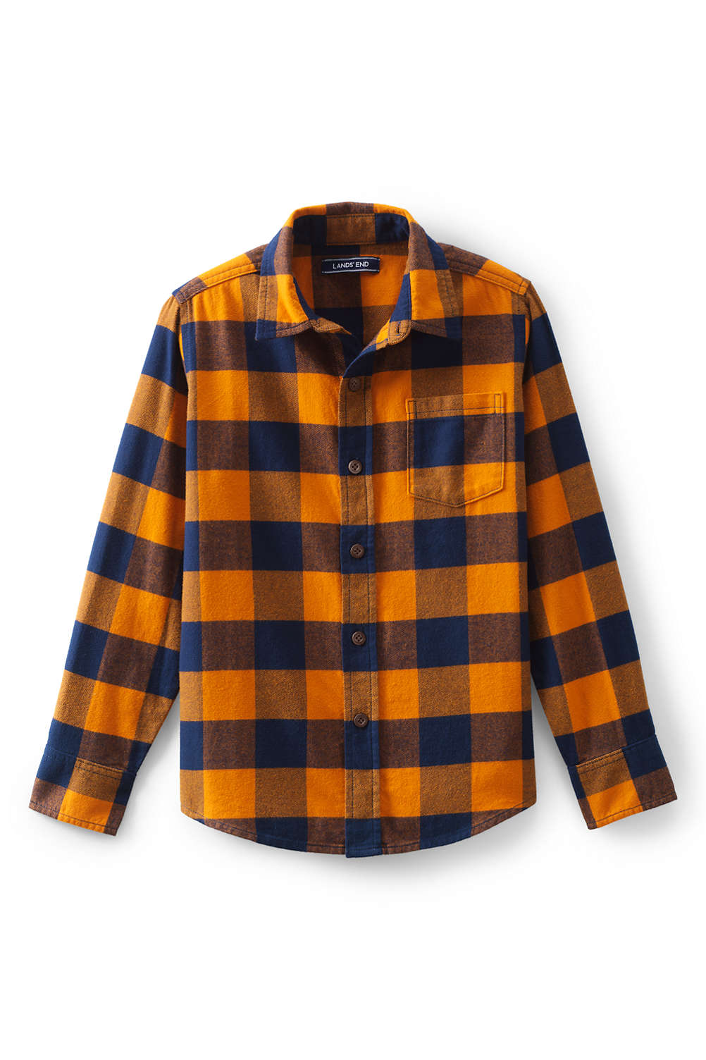 0462cfb9d Boys Flannel Shirt from Lands  End