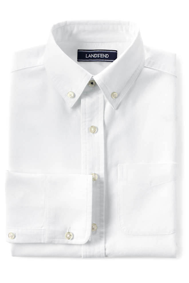Little Boys Washed Oxford Shirt, Front