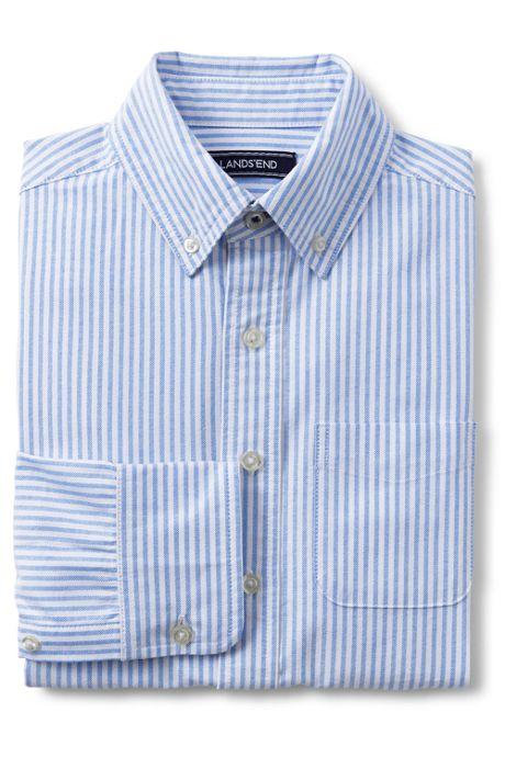 School Uniform Boys Husky Washed Oxford Shirt