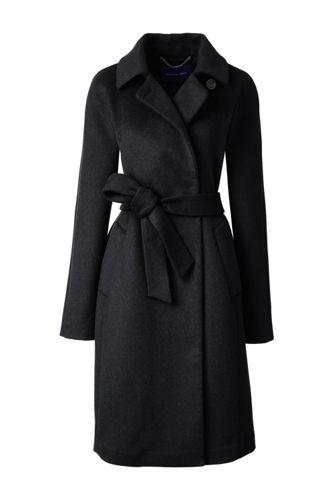 Women's Regular Wool Blend Wrap Coat