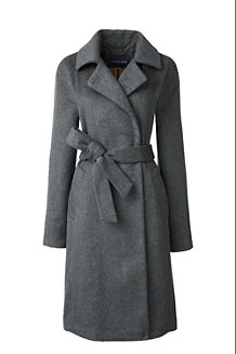Women's Wool Blend Wrap Coat