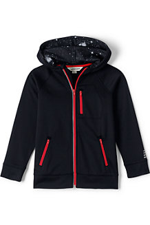 Boys' Zip Front Tricot Hoodie