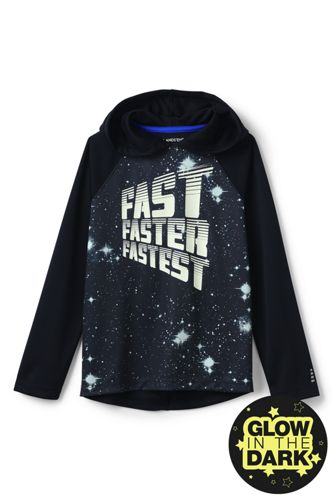 Little Boys' Long Sleeve Graphic Hooded Active Tee