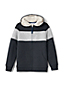 Little Boys' Colourblock Stripe Sherpa-lined Hoodie
