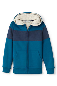 Boys' Colourblock Stripe Sherpa-lined Hoodie
