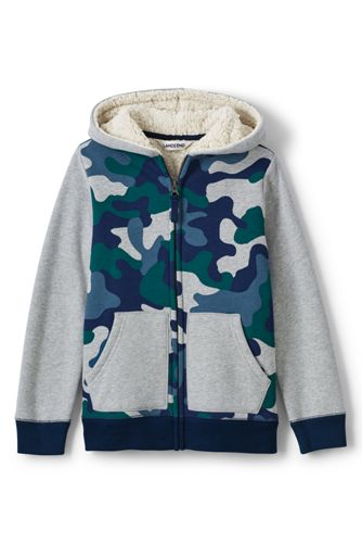 Toddler Boys' Print Colourblock Sherpa Hoodie