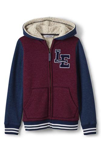 Toddler Boys' Varsity Style Sherpa-lined Hoodie