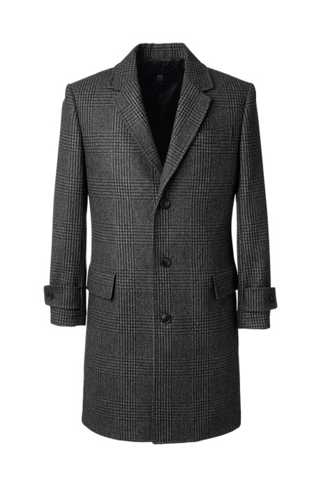 Men's Pattern Wool Overcoat