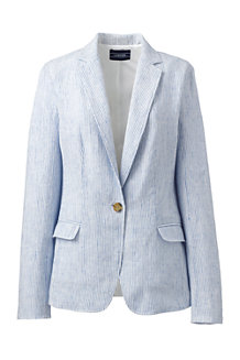 Women's Stripe Linen Jacket