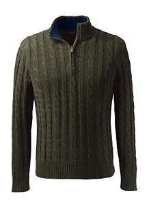Men's Drifter Cable Zip Neck Jumper