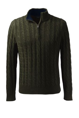Men's Regular Drifter™ Cable Zip Neck Sweater