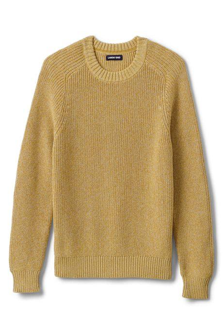 Men's Cotton Drifter Saddle Crew Shaker Marl Sweater