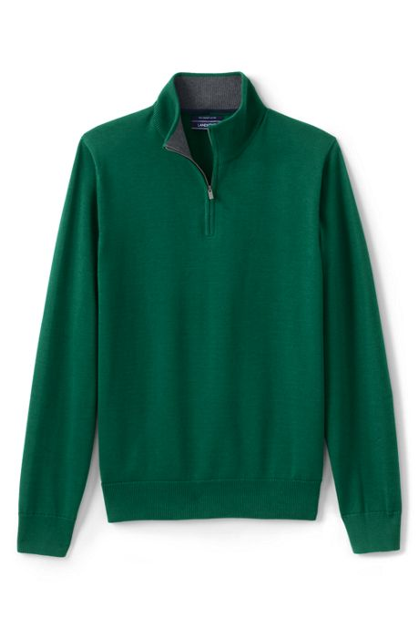 Men's Tall Fine Gauge Supima Cotton Quarter Zip