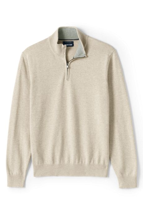 Men's Fine Gauge Supima Cotton Quarter Zip Sweater