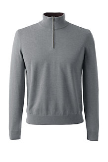 Men's Fine Gauge Zip-neck Jumper