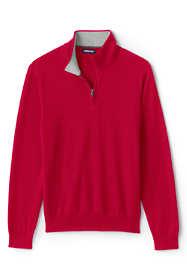 Men's Fine Gauge Supima Cotton Quarter Zip Sweater