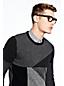 Men's Patchwork Lambswool Sweater