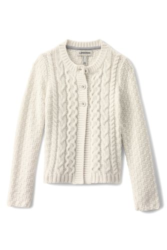Little Girls' Chunky Cable Cardigan