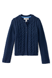 Girls' Chunky Cable Cardigan