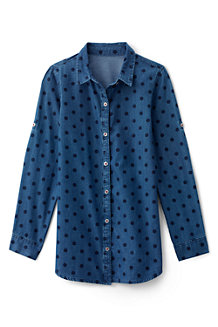 Girls' Long Sleeve Chambray Tunic Shirt
