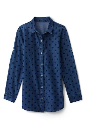 Little Girls' Long Sleeve Chambray Tunic Shirt