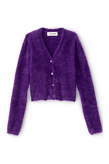 Girls' Long Sleeve V-Neck Cardigan