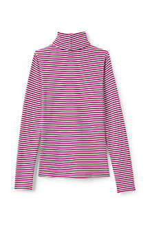 Girls' Long Sleeve Print Polo Neck