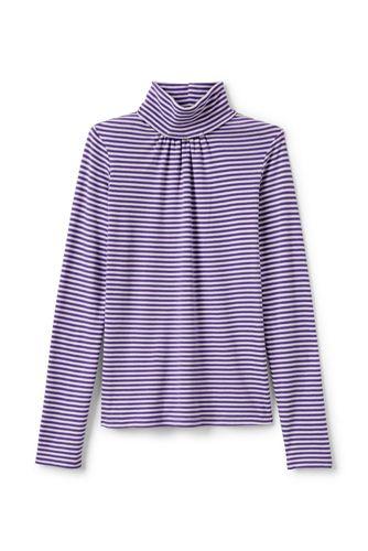 Little Girls' Long Sleeve Print Polo Neck