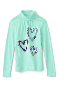 Girls Plus Long Sleeve Graphic Knit Turtleneck