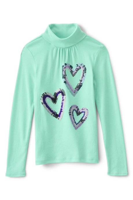 Girls Plus Long Sleeve Graphic Knit Turtleneck