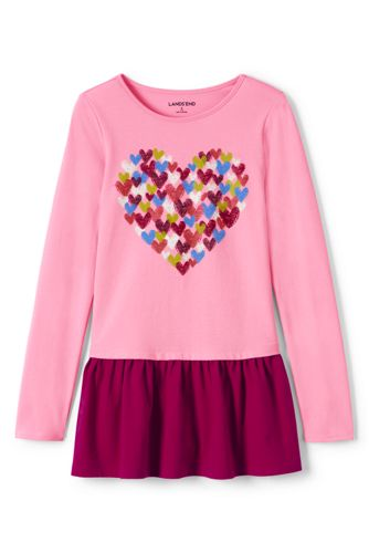 Little Girls' Long Sleeve Graphic Legging Top
