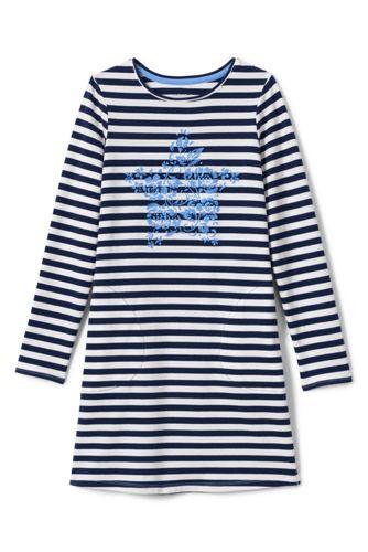 Jerseykleid mit Grafikprint für kleine Mädchen