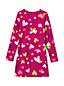 Gemustertes Jerseykleid für kleine Mädchen
