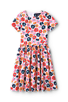Little Girls' Sateen Twirl Dress