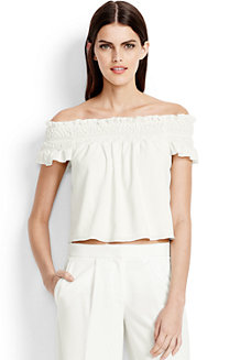 Women's Smocked Crop Top