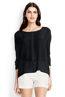 Women's Silk Dolman Sleeve Top
