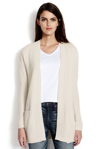Women's Lofty Cotton Open Textured Cardigan