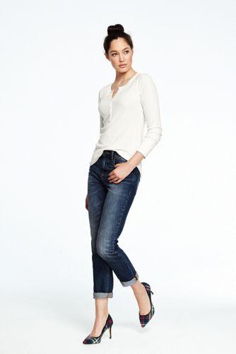 Women's Long Sleeved Henley Top