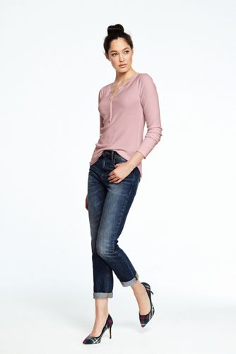 Women's Long Sleeved Henley Top