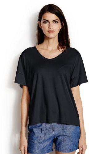 Legeres Shirt mit V-Ausschnitt