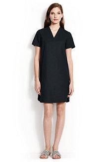 Hemdkleid mit V-Ausschnitt für Damen