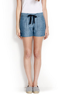 Chambray-Shorts für Damen