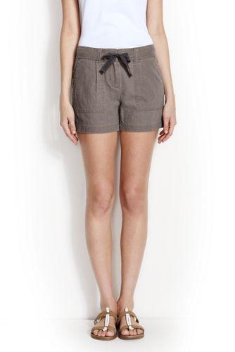 Leinen/Baumwoll-Shorts für Damen