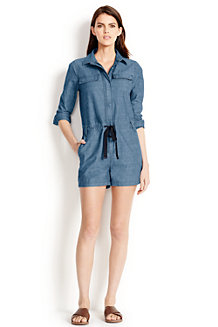 Women's Chambray Short Jumpsuit