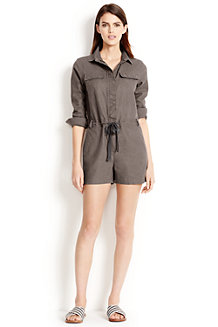 Women's Cotton/Linen Short Jumpsuit
