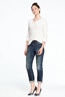 Women's Slouchy Indigo Slim Jeans