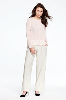 Women's Tailored Wide Leg Trousers